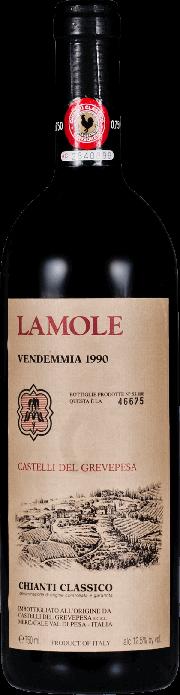 Chianti Classico La Mole Castelli del Grevepesa 1990 0.75 lt.