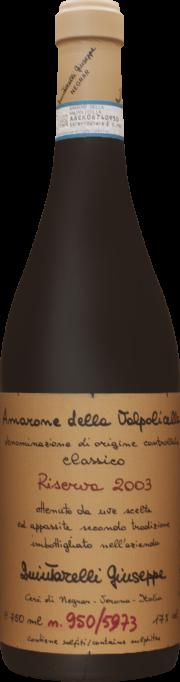 Amarone della Valpolicella Riserva Giuseppe Quintarelli 2003 0,75 lt.